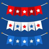Vector illustration background with bunting flags for happy Presidents Day. Vector illustration patriotic background with bunting flags for happy Preents Day Royalty Free Stock Photography
