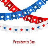 Vector illustration background with bunting flags for happy Presidents Day. Vector illustration patriotic background with bunting flags for happy Presidents Day Royalty Free Stock Images