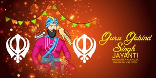 Celebrate Guru Gobind Singh Jayanti. Vector illustration of a Background for Celebrate Guru Gobind Singh Jayanti Stock Image
