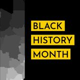Vector illustration background concept for Black history month. Yellow frame for text, grey map of Africa vector illustration