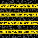 Vector illustration background concept for Black history month. Yellow stripes for text, black pattern vector illustration
