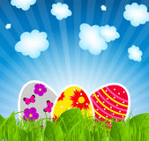 Vector illustration background with easter eggs Royalty Free Stock Photo