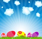 Vector illustration background with easter eggs Royalty Free Stock Photos