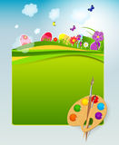 Vector illustration background with easter eggs Royalty Free Stock Photography
