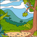 Vector illustration, background (forest glade) Royalty Free Stock Photo