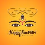Happy navratri greeting card design. Vector illustration background for greetings vector illustration