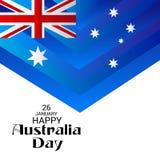 Happy Australia Day 26 January. Vector illustration of a Background for Happy Australia Day 26 January Royalty Free Stock Photos