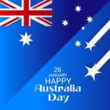 Happy Australia Day 26 January. Vector illustration of a Background for Happy Australia Day 26 January Royalty Free Stock Photo