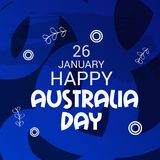 Happy Australia Day 26 January. Vector illustration of a Background for Happy Australia Day 26 January Stock Images