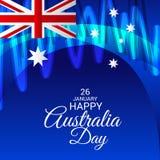 Happy Australia Day 26 January. Vector illustration of a Background for Happy Australia Day 26 January Royalty Free Stock Photography