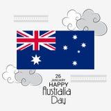 Happy Australia Day 26 January. Vector illustration of a Background for Happy Australia Day 26 January Stock Photos