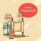 Happy Hanukkah Jewish holiday. Vector Illustration of a Background for Happy Hanukkah Jewish holiday Stock Images
