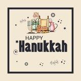 Happy Hanukkah Jewish holiday. Vector Illustration of a Background for Happy Hanukkah Jewish holiday Royalty Free Stock Photography