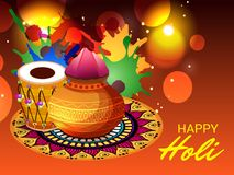 Happy Holi. Vector Illustration of a background for Happy Holi vector illustration