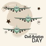 International Civil Aviation Day. Stock Photos