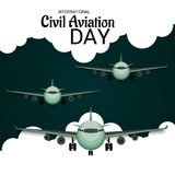 International Civil Aviation Day. Royalty Free Stock Images