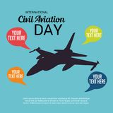 International Civil Aviation Day. Vector Illustration of a Background for International Civil Aviation Day Royalty Free Stock Photos