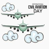 International Civil Aviation Day. Vector Illustration of a Background for International Civil Aviation Day Stock Photography
