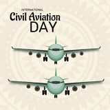 International Civil Aviation Day. Vector Illustration of a Background for International Civil Aviation Day Royalty Free Stock Image