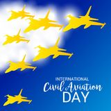 International Civil Aviation Day. Vector Illustration of a Background for International Civil Aviation Day Stock Image