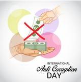 International Day Against Corruption. Vector Illustration of a Background for International Day Against Corruption Stock Photos