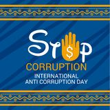 International Day Against Corruption. Vector Illustration of a Background for International Day Against Corruption Royalty Free Stock Photography