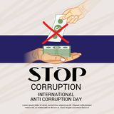 International Day Against Corruption. Royalty Free Stock Photo