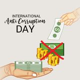 International Day Against Corruption. Stock Image