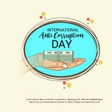 International Day Against Corruption. Vector Illustration of a Background for International Day Against Corruption vector illustration