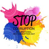 International Day Against Corruption. Stock Photos