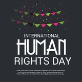International Human Rights Day. Vector Illustration of a Background for International Human Rights Day Stock Photography