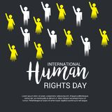 International Human Rights Day. Vector Illustration of a Background for International Human Rights Day Stock Photo
