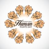 International Human Rights Day. Vector Illustration of a Background for International Human Rights Day Royalty Free Stock Photography