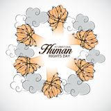 International Human Rights Day. Vector Illustration of a Background for International Human Rights Day Stock Images