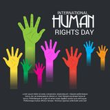 International Human Rights Day. Vector Illustration of a Background for International Human Rights Day Royalty Free Stock Image