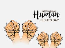 International Human Rights Day. Vector Illustration of a Background for International Human Rights Day Royalty Free Stock Photo