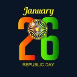 26 January, Republic Day Celebration in India. Royalty Free Stock Images