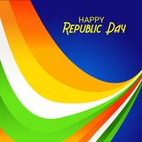 26 January, Republic Day Celebration in India. Vector illustration of a Background for 26 January, Republic Day Celebration in India royalty free illustration