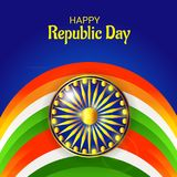 26 January, Republic Day Celebration in India. Vector illustration of a Background for 26 January, Republic Day Celebration in India vector illustration