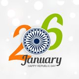 26 January, Republic Day Celebration in India. Vector illustration of a Background for 26 January, Republic Day Celebration in India stock illustration