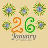 26 January, Republic Day Celebration in India. Stock Images