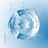 Vector illustration for background with mechanical gears and wheels, abstract futuristic Royalty Free Stock Photography
