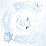 Vector illustration for background with mechanical gears and wheels, abstract futuristic Stock Photography