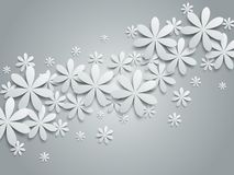 Background with paper flowers Royalty Free Stock Photos