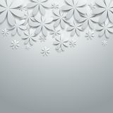Background with paper flowers Stock Image