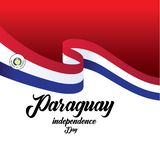 Vector illustration of a background for Paraguay Happy Independence day. - Vector. Design freedom flag holiday banner template greeting may paraguayan symbol stock illustration