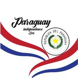Vector illustration of a background for Paraguay Happy Independence day. - Vector. Design freedom flag holiday banner template greeting may paraguayan symbol royalty free illustration