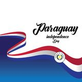 Vector illustration of a background for Paraguay Happy Independence day. - Vector. Design freedom flag holiday banner template greeting may paraguayan symbol vector illustration