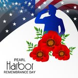 Pearl Harbor Remembrance Day. Vector Illustration of a Background for Pearl Harbor Remembrance Day Stock Photography
