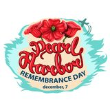 Vector illustration of a Background for Pearl Harbor Remembrance Day. vector illustration